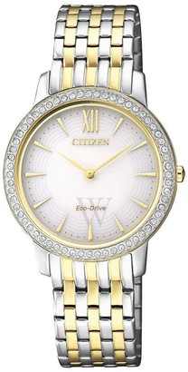 Citizen Women's Silhouette Crystal Mother of Pearl Dial Watch, 29mm