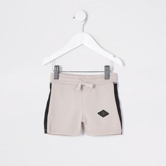 Maison Riviera River Island Mini boys Beige pique shorts