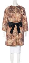 Dolce & Gabbana Jacquard Button-Adornment Coat w/ Tags