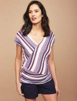 Faux Wrap Maternity T Shirt