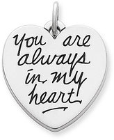"James Avery Jewelry James Avery Sterling Silver ""You Are Always in My Heart"" Charm"