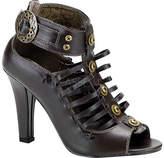 Demonia Women's Tesla 05 - Brown PU Ornamented Shoes