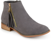 Gray Tassel Thora Ankle Boot