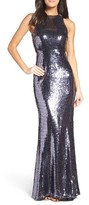 LuLu*s Women's Sequin Mermaid Gown