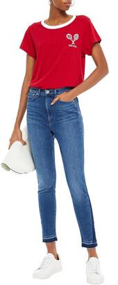 Rag & Bone Nina Cropped Frayed High-rise Skinny Jeans