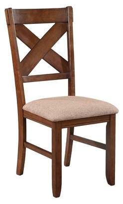 Powell Company Set of 2 Jackson Side Chair Dark Hazelnut