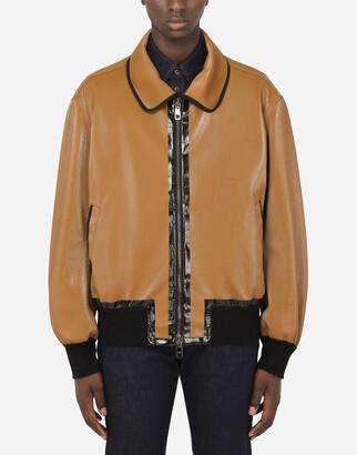 Dolce & Gabbana Coated Cotton Jacket
