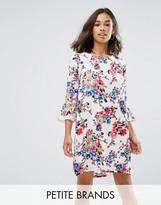Yumi Petite Frill Sleeve Shift Dress