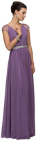 Dancing Queen - Elegant Pleated V-neck Chiffon A-line Dress 9182