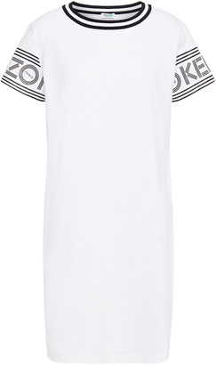 Kenzo Monogram-trimmed Cotton-jersey Mini Dress