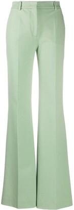 Alberta Ferretti Pleat Detail High-Waisted Flared Trousers