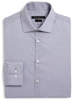 John Varvatos Faded Check Slim Fit Dress Shirt