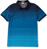 Calvin Klein Slim-Fit Liquid Jersey Fine Stripe Ombre Short-Sleeve Polo Shirt
