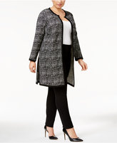 Alfani Plus Size Printed Topper Jacket, Only at Macy's