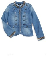Bebe Girl's Military Denim Jacket