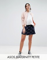 Asos Petite Woven Short With Bug Print