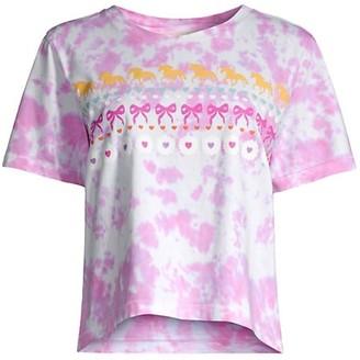 LoveShackFancy Calix Tie-Dye Graphic Print T-Shirt