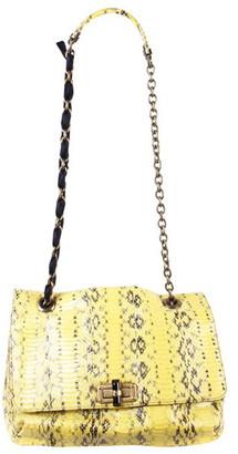 Lanvin Yellow Python Leather Medium Happy Bag