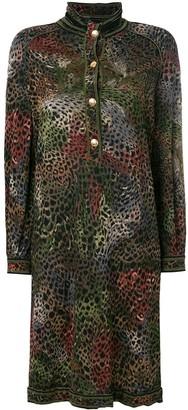 A.N.G.E.L.O. Vintage Cult Animal Print Buttoned Dress