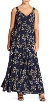 City Chic Plus Size Women's I Found You Floral Maxi Dress