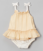 Juicy Couture Gold Ruffle Tie Tank & Diaper Cover - Infant