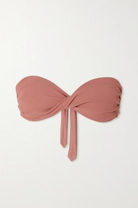Melissa Odabash Thailand Twist-front Bandeau Bikini Top - Antique rose