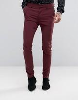 Asos Super Skinny Tuxedo Suit Pants