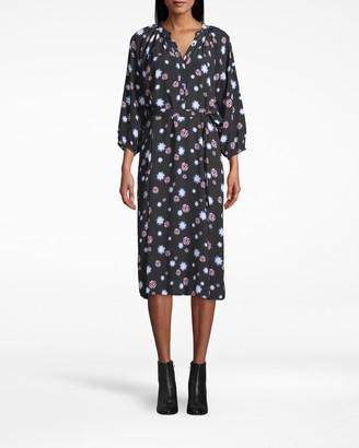 Nicole Miller Crepe Raglan Midi Dress