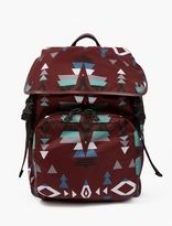 Valentino Maroon Navajo Nylon Backpack
