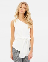 Bardot One Shoulder Bow Top