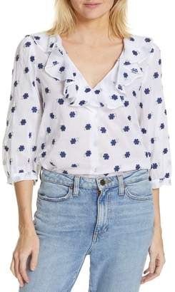 Smythe Over the Head Embroidered Blouse