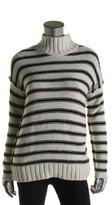 Lauren Ralph Lauren Womens Linen Blend Striped Turtleneck Sweater