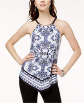 INC International Concepts I.n.c. Printed Hardware Halter Top, Created for Macy's