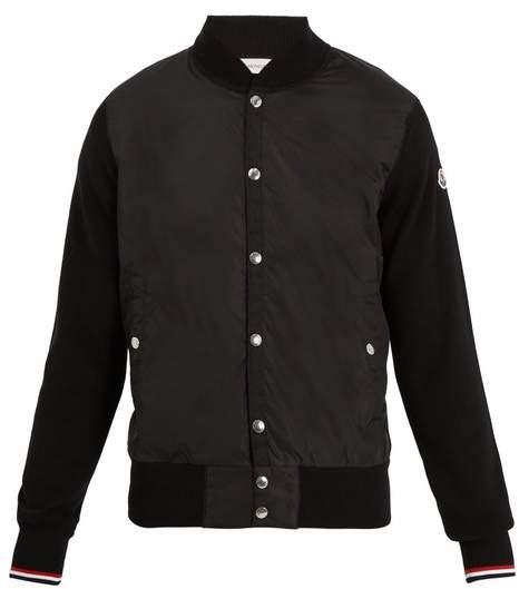 Moncler Contrast Panel Bomber Jacket - Mens - Black