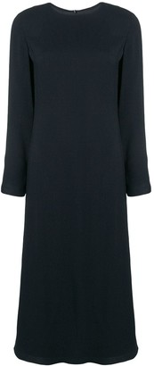 Theory long sleeved flared dress