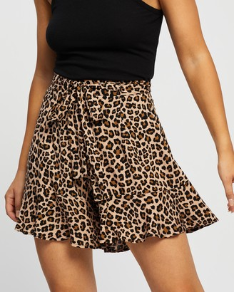 Atmos & Here Atmos&Here - Women's Brown Shorts - Alexa Ruffle Shorts - Size 6 at The Iconic