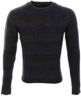 Antony Morato Striped Knit Jumper Blue