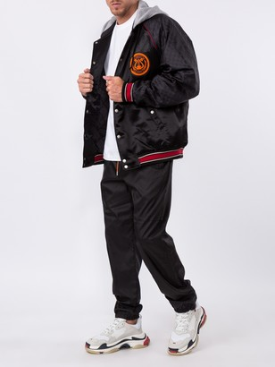 Gucci Acetate Bomber Jacket With Lyre Patch Black