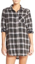 Make + Model Women's Plaid Cotton Blend Nightshirt