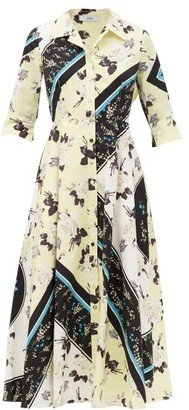 Erdem Kasia Rosemont-willow Print Cotton Shirt Dress - Yellow Print