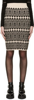 Alexander McQueen Beige and Black Pencil Skirt