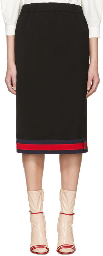 Gucci Navy Web Ribbon Skirt