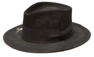 Nick Fouquet The North End Felt Fedora Hat - Mens - Black