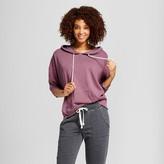 Xhilaration Women's Sleep Sweatshirt Raspberry Wine