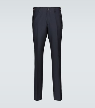 Burberry Icon stripe wool-mohair pants