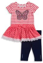 Flapdoodles Butterfly Tunic and Leggings Set