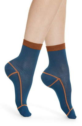 Hysteria By Happy Socks Lily Rib Ankle Socks