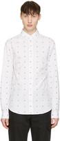 McQ by Alexander McQueen White Googe Swallows Shirt