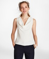 Brooks Brothers Crepe Cowl-Neck Blouse