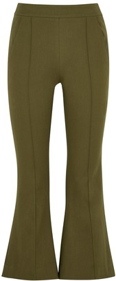 Maggie Marilyn Meet Me At Seven olive stretch-twill trousers